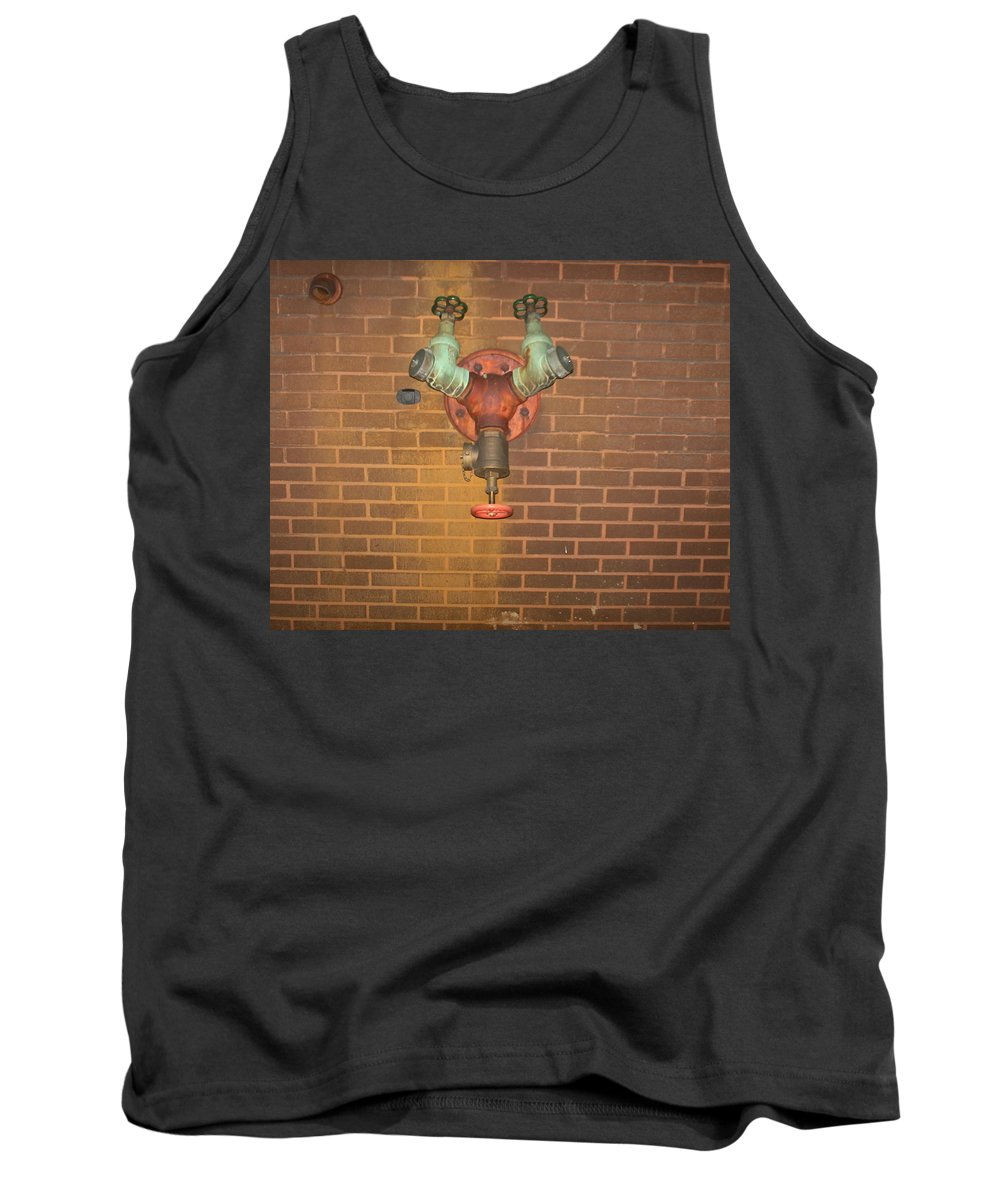 Photograph Tank Top featuring the photograph Plain All Alone Pipe by Thomas Valentine