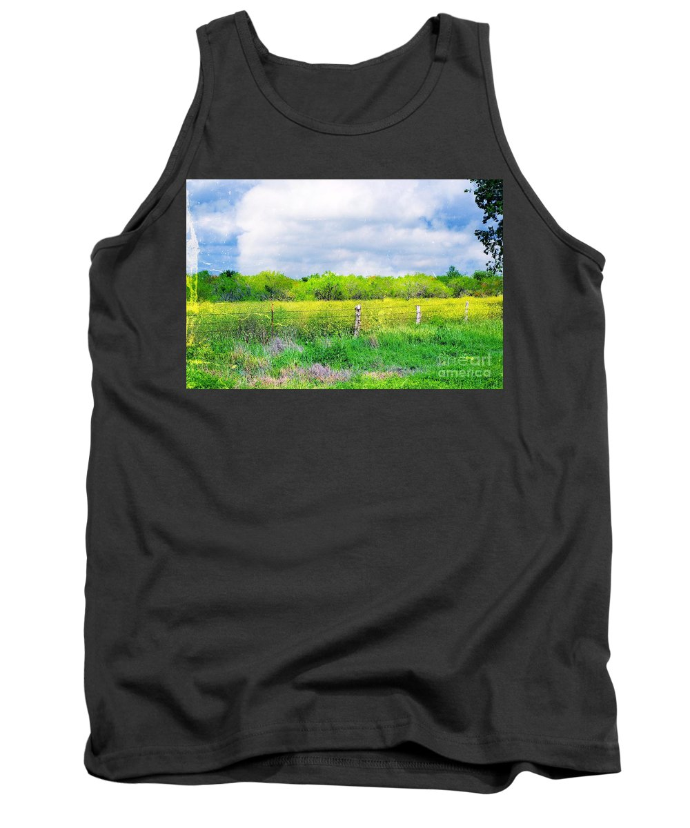 Plain Tank Top featuring the photograph Plain Country by Gary Richards