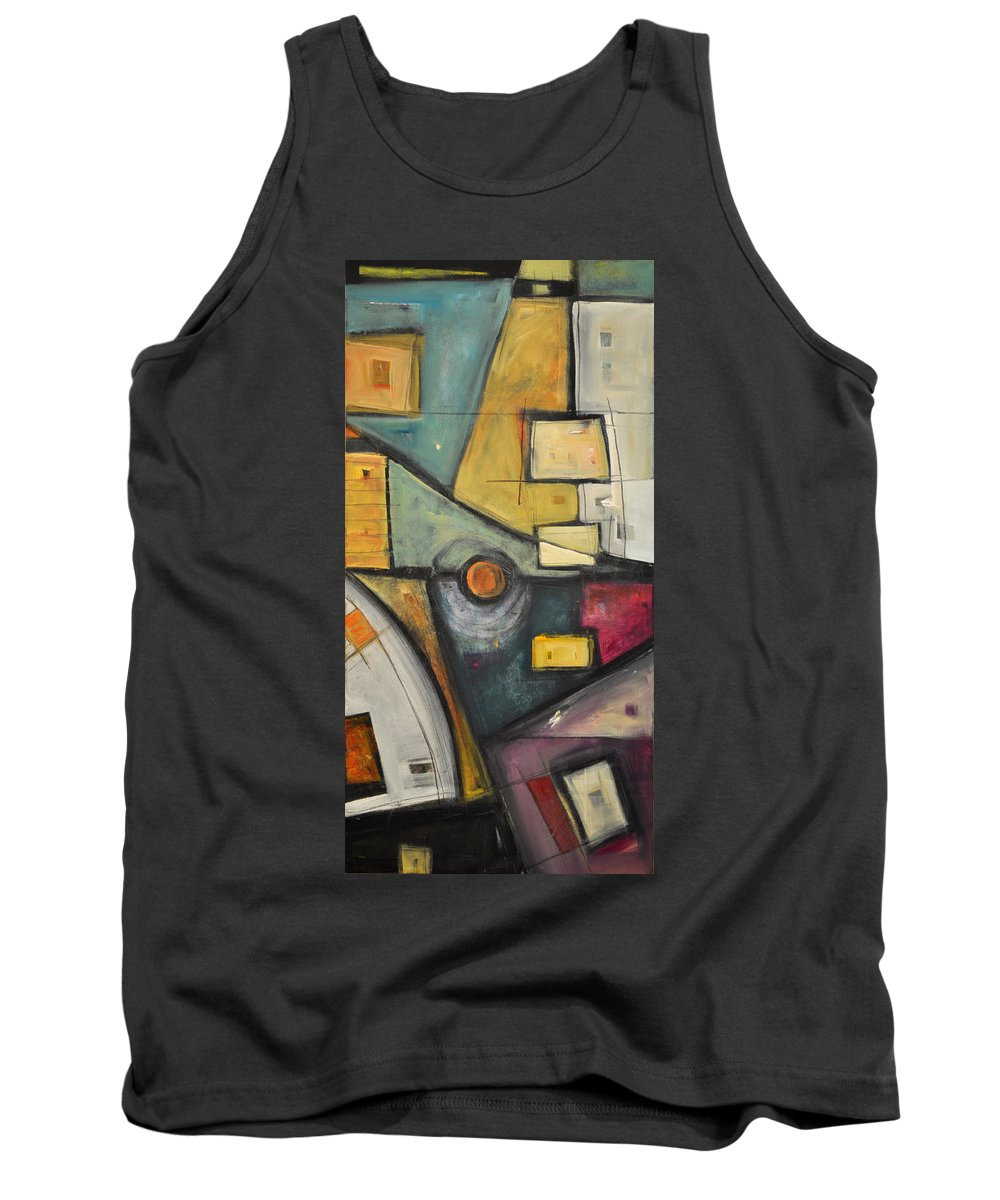 Planet Tank Top featuring the painting Planet Dada by Tim Nyberg