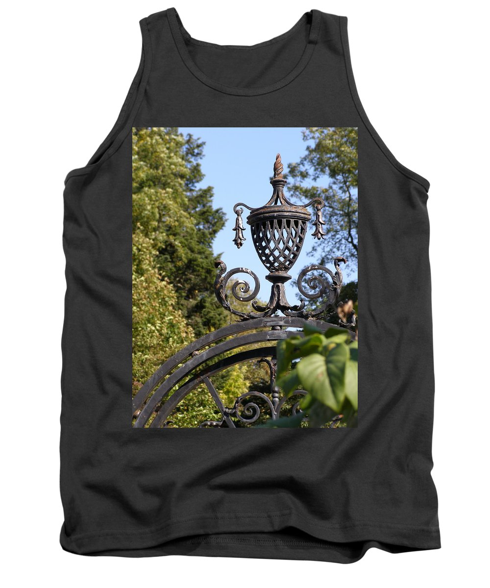 Planting Fields Tank Top featuring the photograph Planting Fields Gate by Howard Rose