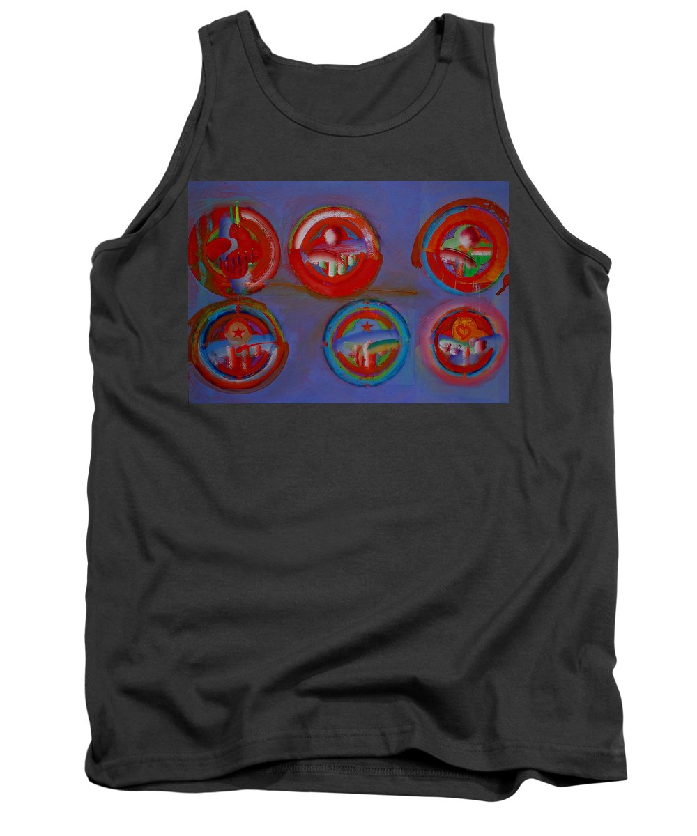 Logo Tank Top featuring the painting Plate State by Charles Stuart