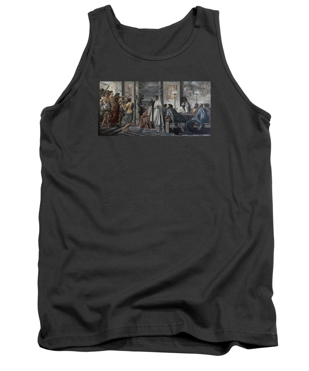 Painting Tank Top featuring the painting Plato's Symposium by Mountain Dreams