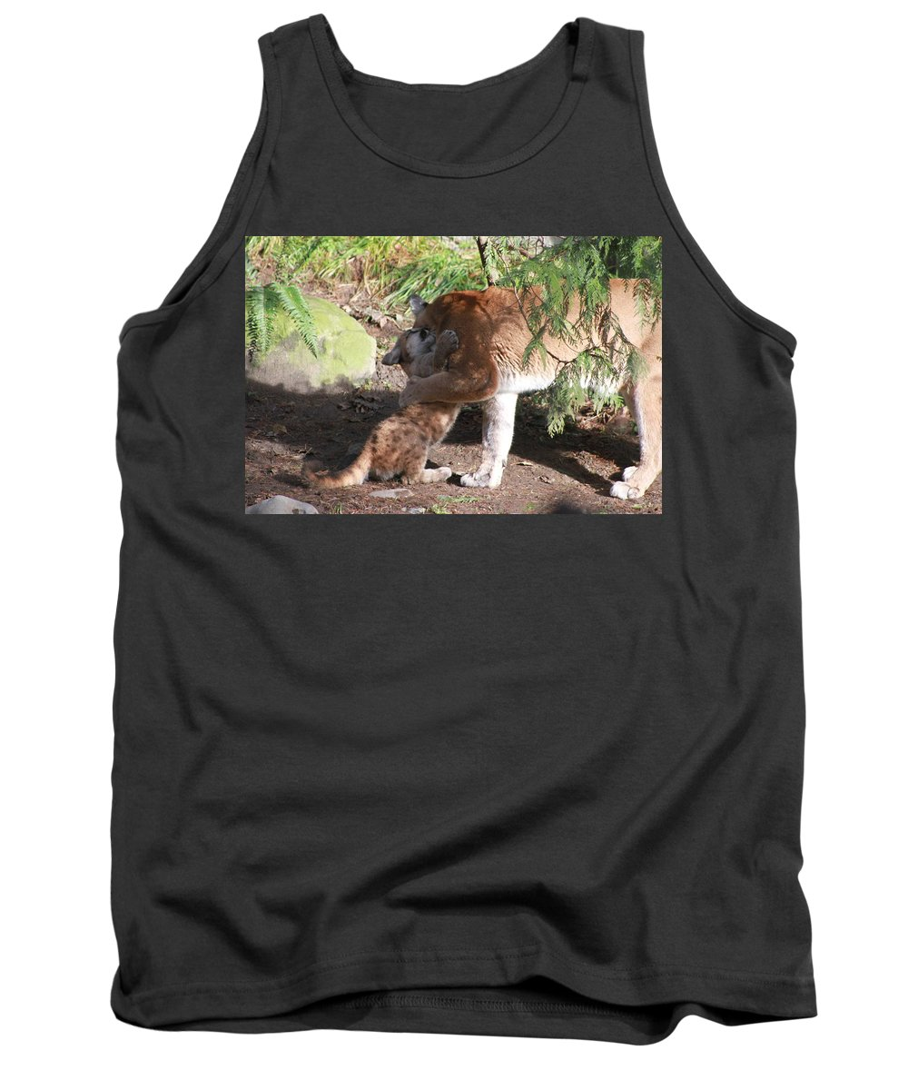 Palus Tank Top featuring the photograph Playful Hugs by Laddie Halupa