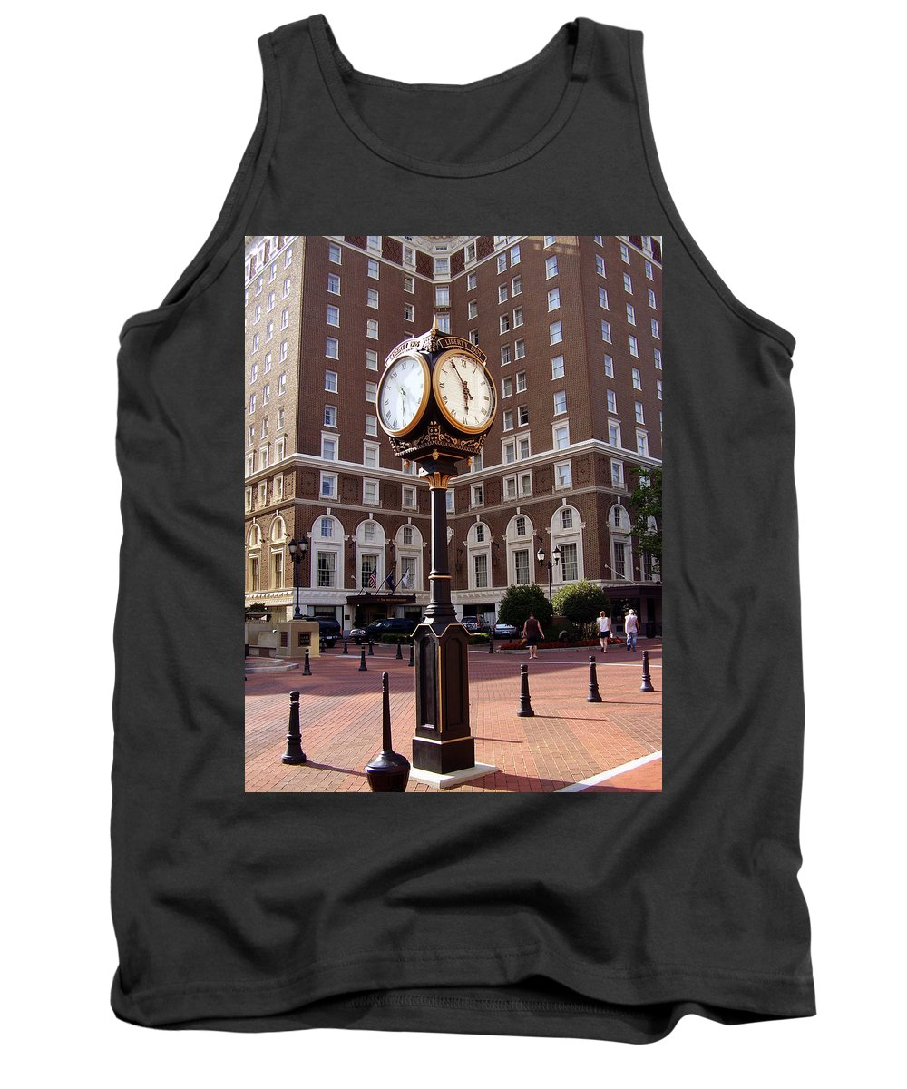Poinsett Hotel Tank Top featuring the photograph Poinsett Hotel Greeenville Sc by Flavia Westerwelle