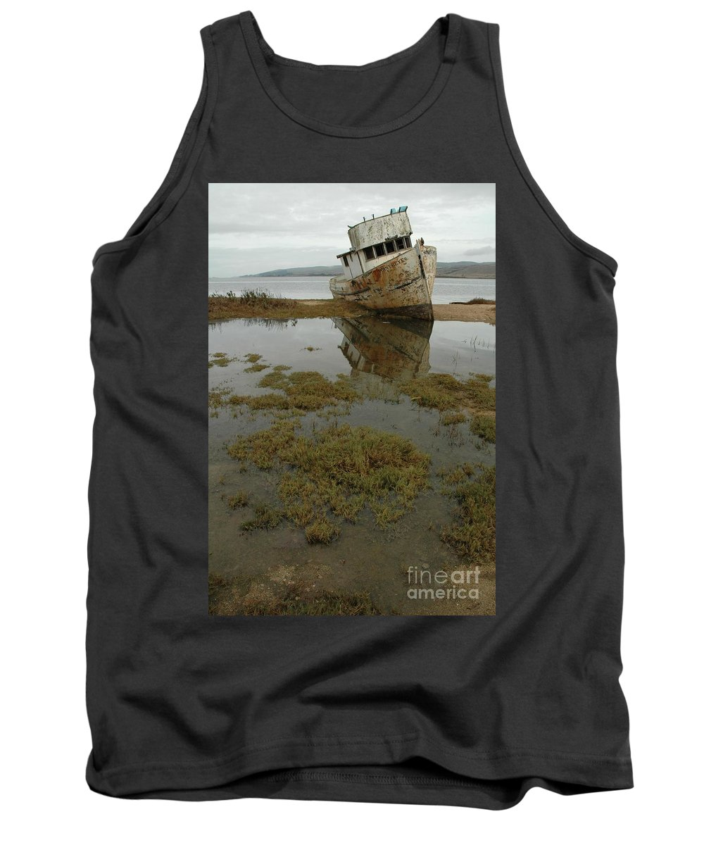 Boats Tank Top featuring the photograph Point Reyes Reflection by Norman Andrus