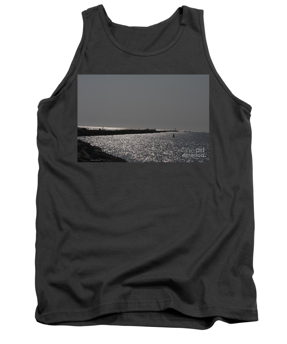 Ocean Tank Top featuring the photograph Ponce Inlet Pier by Deborah Benoit