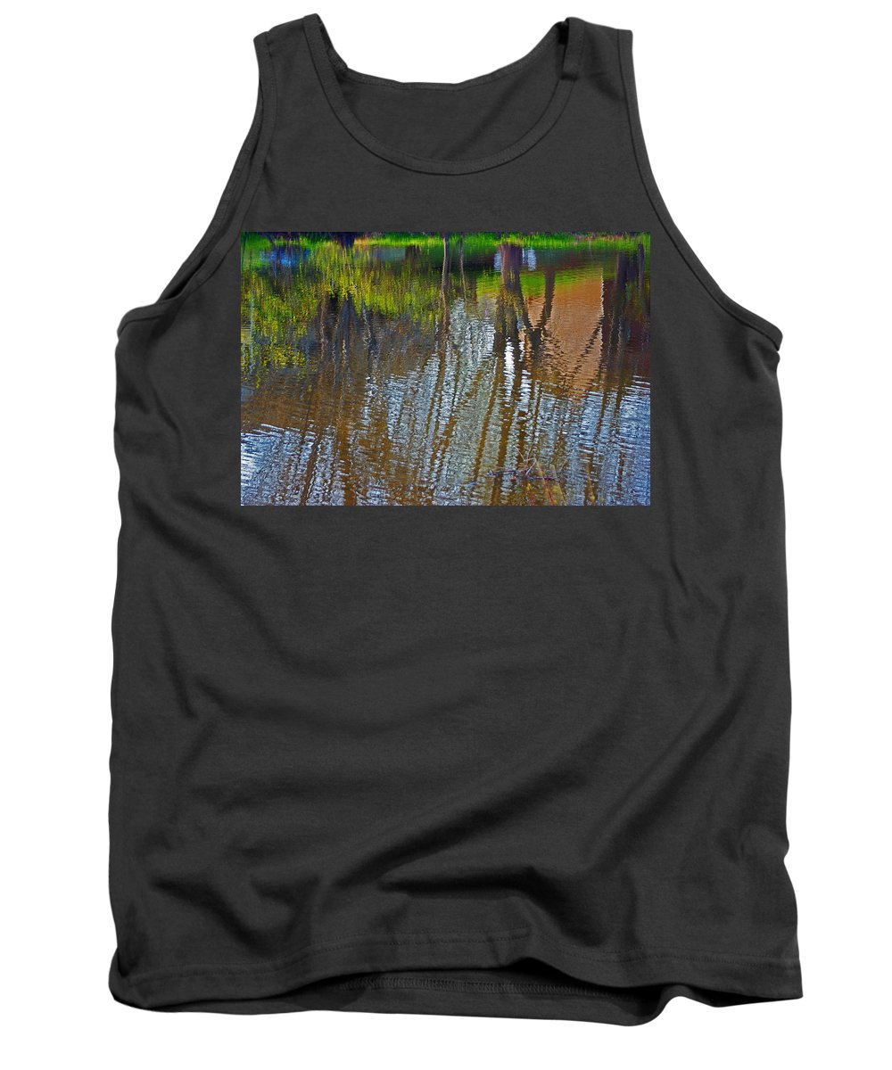 Pond Tank Top featuring the photograph Pond Reflection by Alice Markham