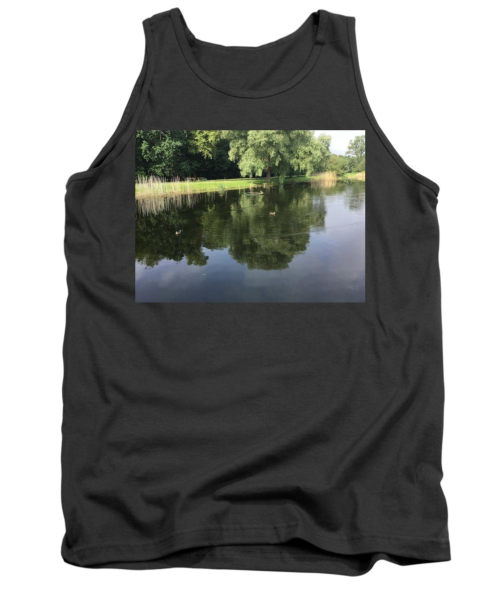 Tank Top featuring the photograph Pond With Ducks by ISABELLE Foley