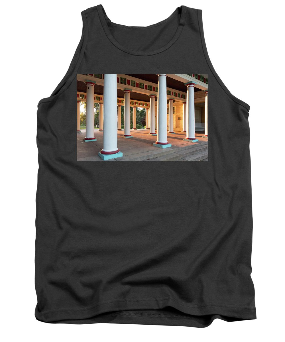 Tower Grove Tank Top featuring the photograph Pool Pavilion by Scott Rackers