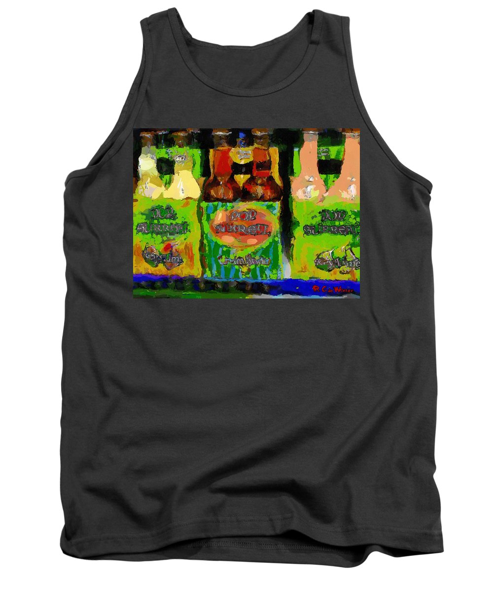 Bottles Tank Top featuring the painting Pop Goes The Surrealism by RC DeWinter