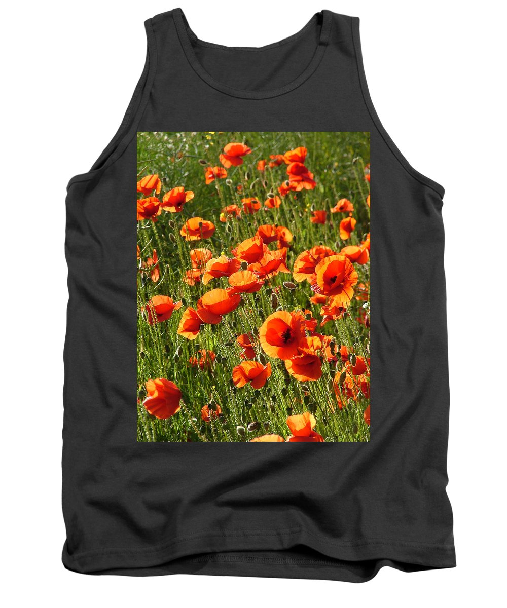 Poppies Tank Top featuring the photograph Poppies by Bob Kemp