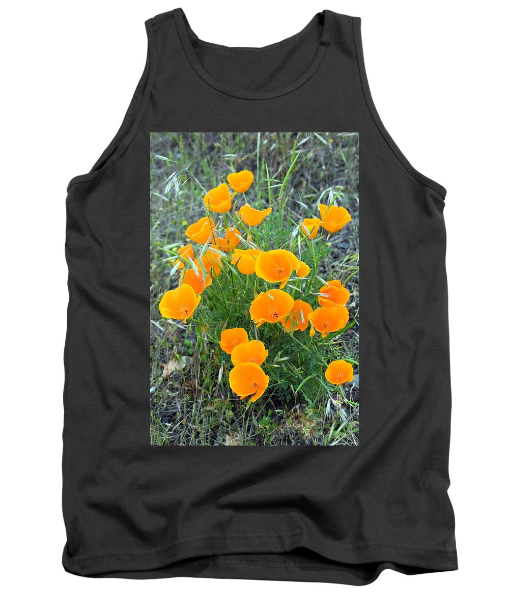 Floral Tank Top featuring the photograph Poppies II by Randall Ingalls