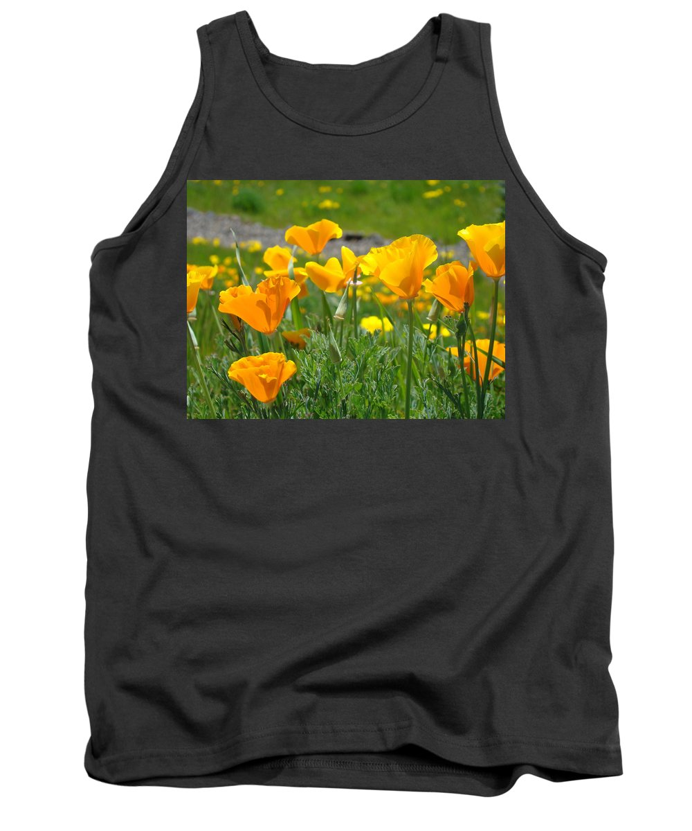 �poppies Artwork� Tank Top featuring the photograph Poppies Meadow Summer Poppy Flowers 18 Wildflowers Poppies Baslee Troutman by Baslee Troutman