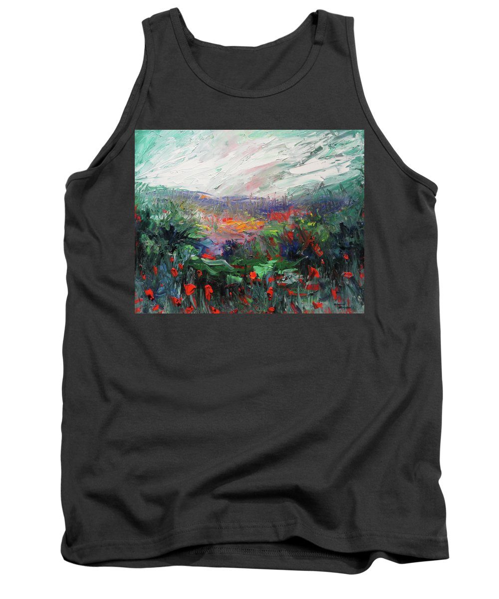 Flowers Tank Top featuring the painting Poppy Dream by Shannon Grissom