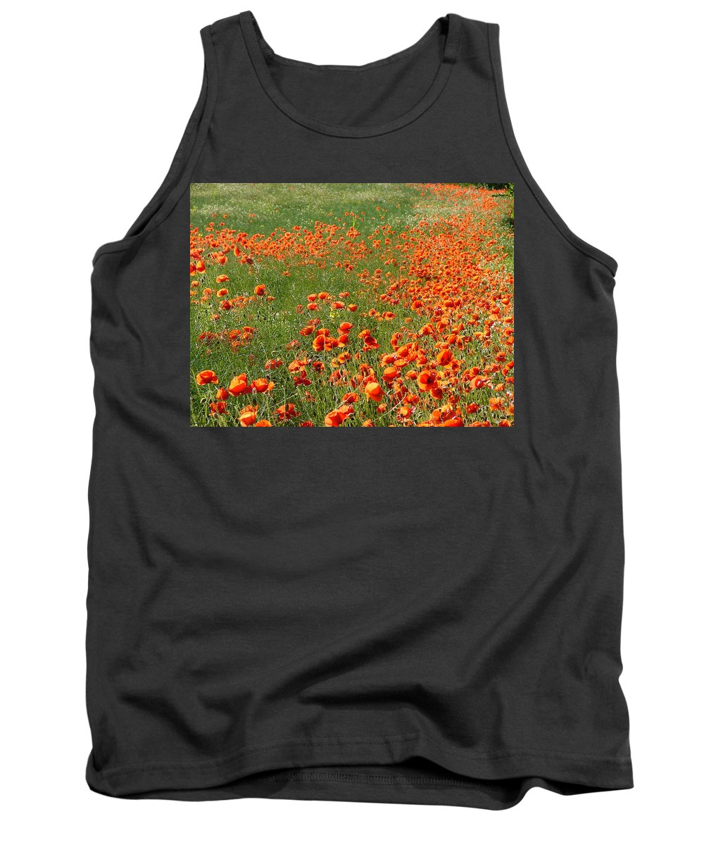 Poppy Tank Top featuring the photograph Poppy Field by Bob Kemp