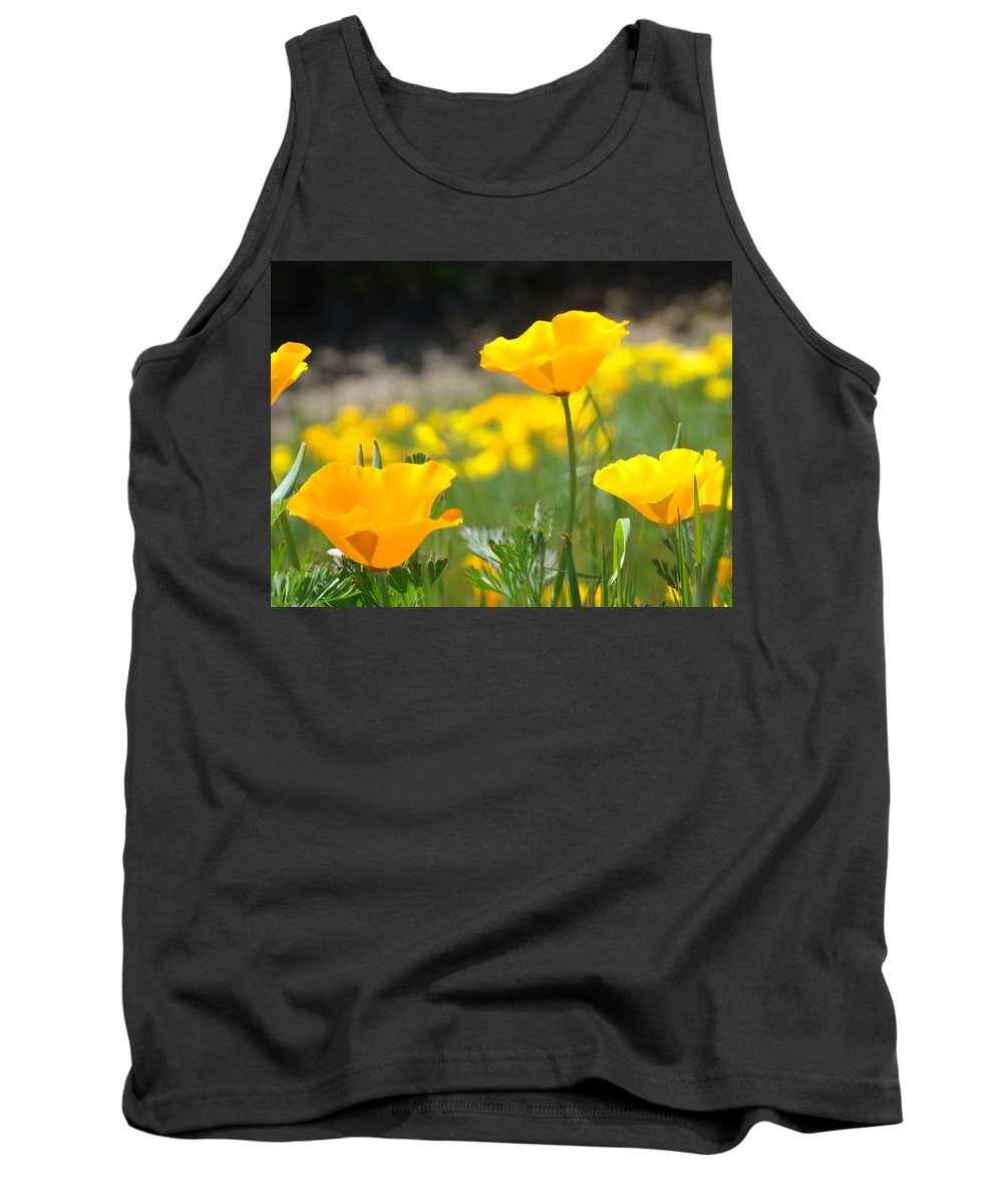 �poppies Artwork� Tank Top featuring the photograph Poppy Flower Meadow 11 Poppies Art Prints Canvas Framed by Baslee Troutman