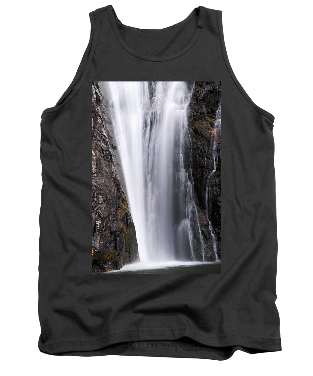 Porcupine Falls Tank Top featuring the photograph Porcupine Falls Closeup by Larry Ricker