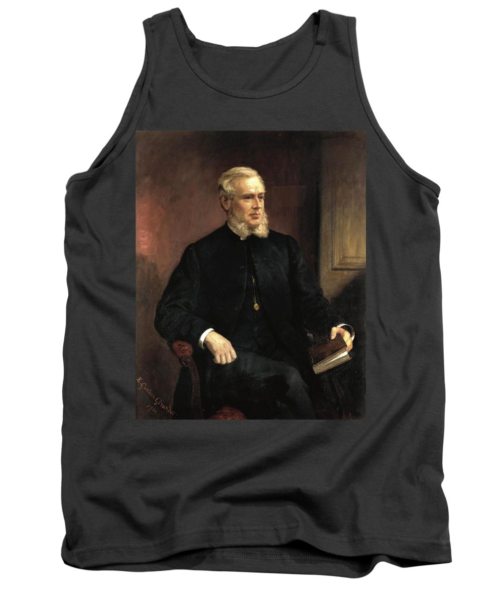 Ernest Gustave Girardot Tank Top featuring the painting Portrait Of A Gentleman by Ernest Gustave Girardot