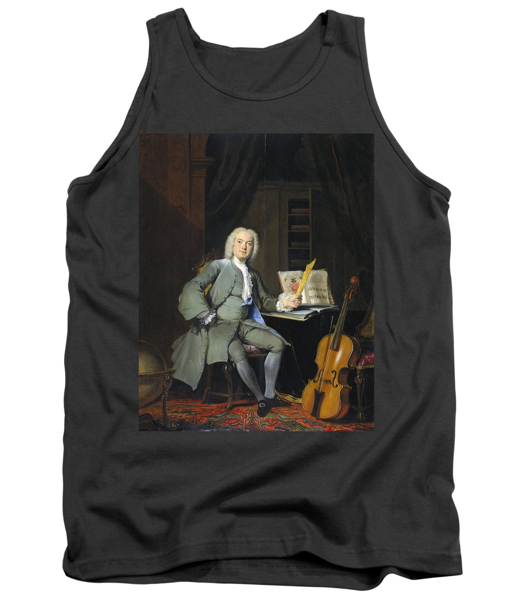 Age Tank Top featuring the painting Portrait Of A Member Of The Van Der Mersch Family, 1736 by Cornelis Troost