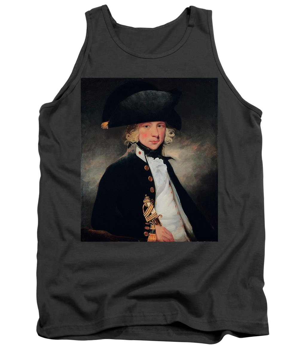Cloak Tank Top featuring the digital art Portrait Of A Young Midshipman Sir Henry William Beechey by Eloisa Mannion