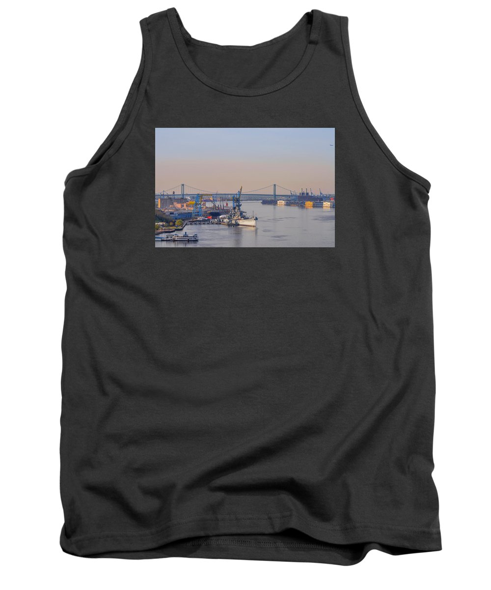 Ports Tank Top featuring the photograph Ports Of Camden And Philadelphia by Bill Cannon