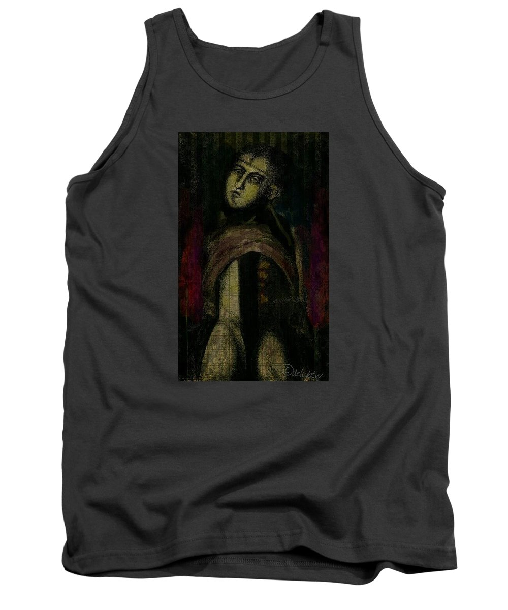 Vintage Tank Top featuring the digital art Post Mortem by Delight Worthyn