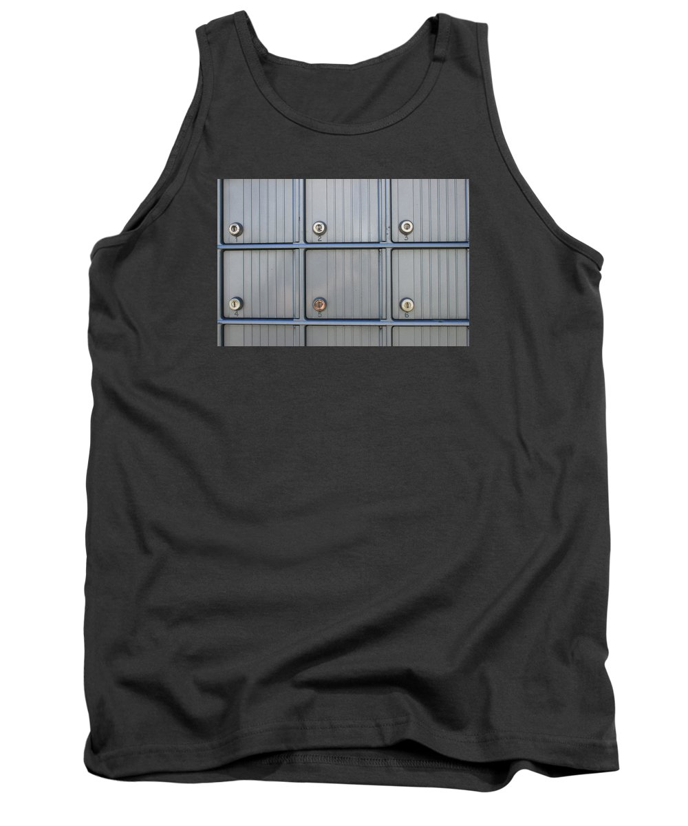 Abstract Tank Top featuring the photograph Post Office Boxes by Robert Hamm