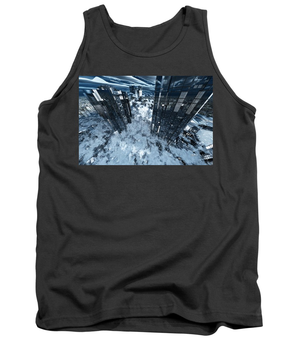 Abstractly Tank Top featuring the digital art Poster-city 8 by Max Steinwald