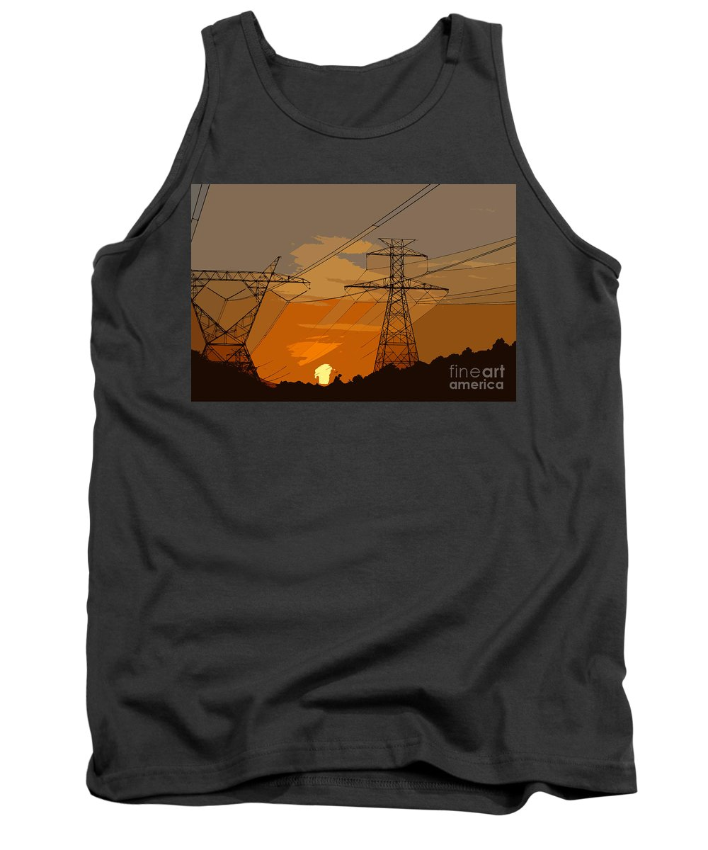 Power Tank Top featuring the painting Power To The People by David Lee Thompson