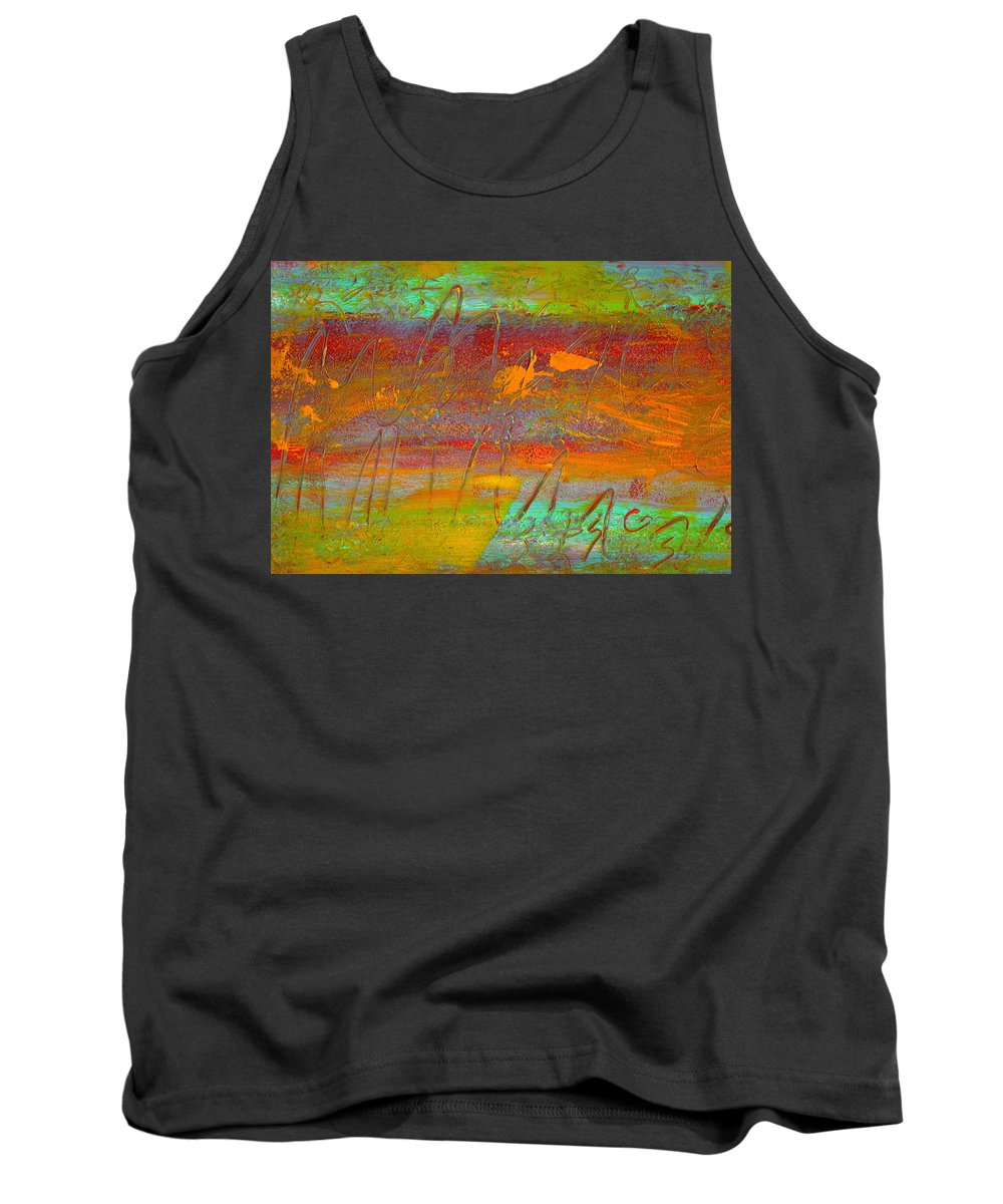 Abstract Tank Top featuring the painting Prelude To A Sigh by Wayne Potrafka