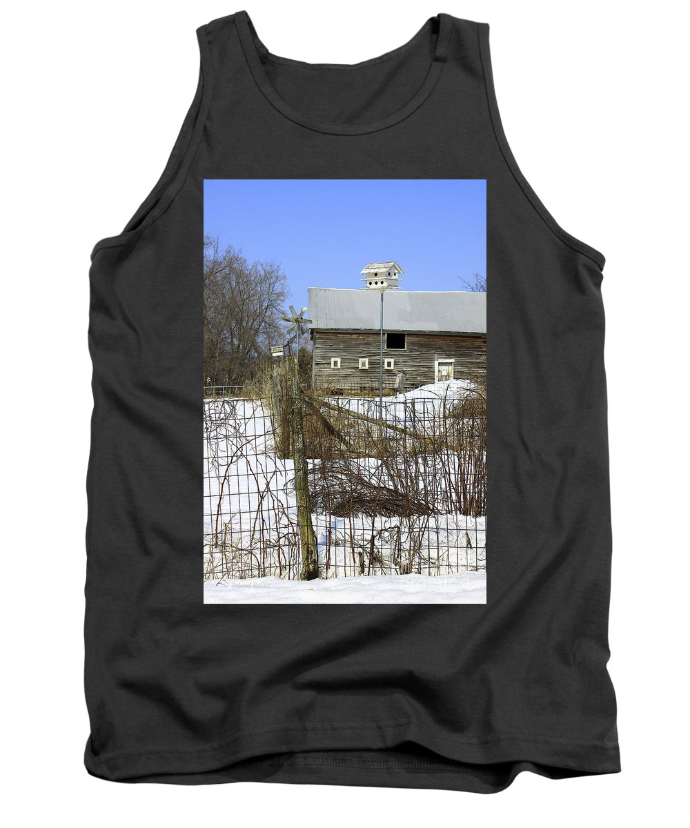 Country Tank Top featuring the photograph Premium Bird House View by Deborah Benoit