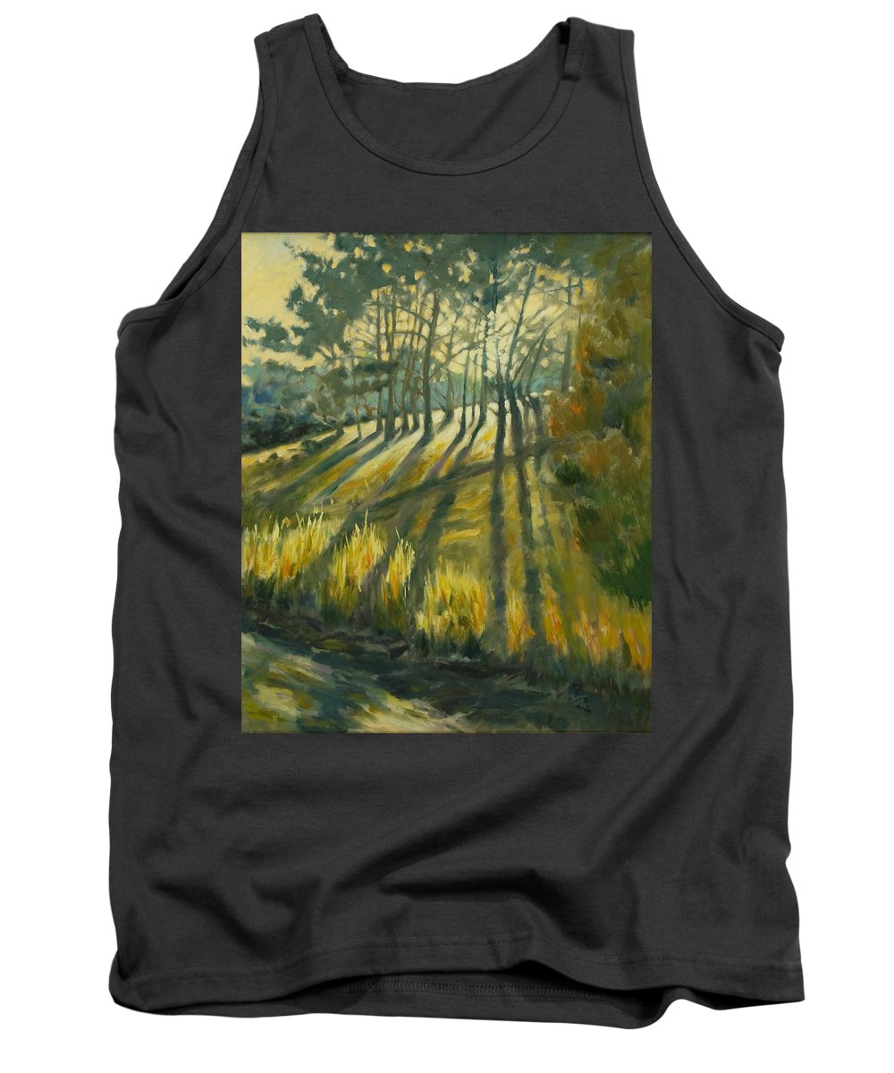 Trees Tank Top featuring the painting Presidio by Rick Nederlof