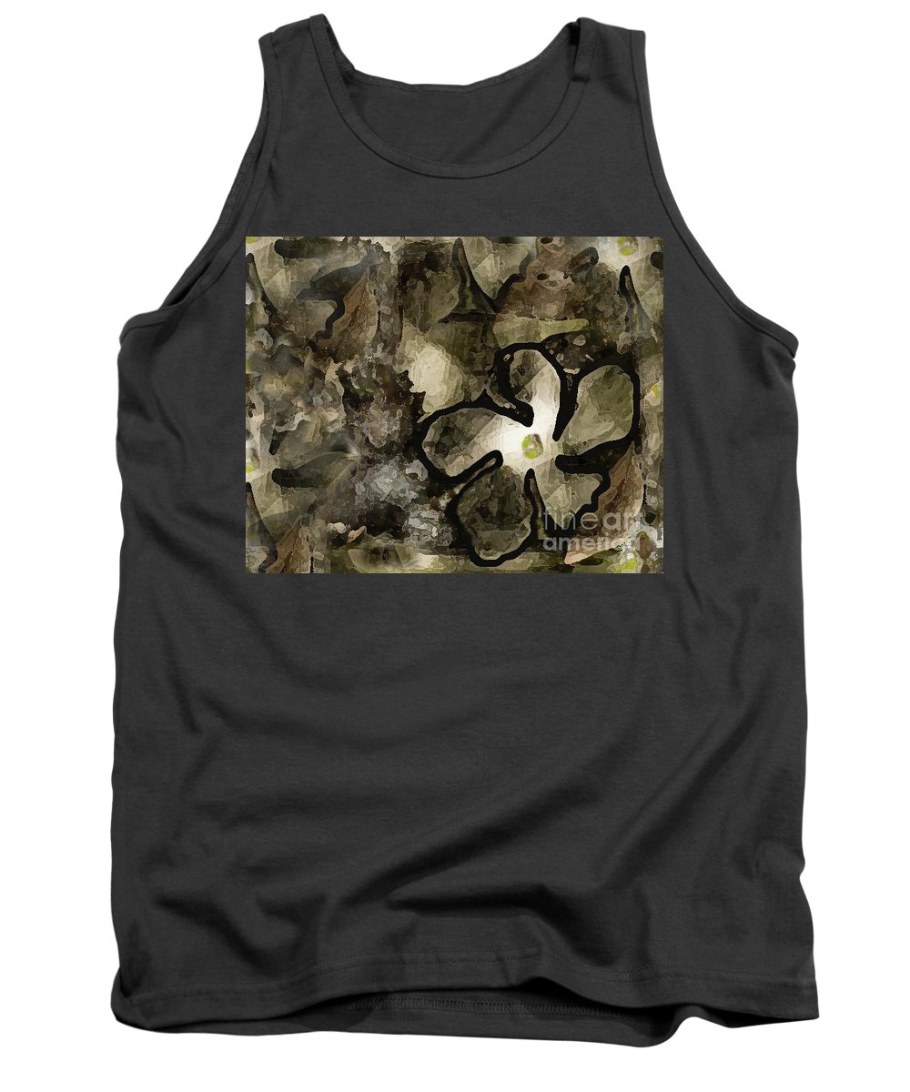 Nature Art Tank Top featuring the photograph Pressed Flower by Kim Henderson