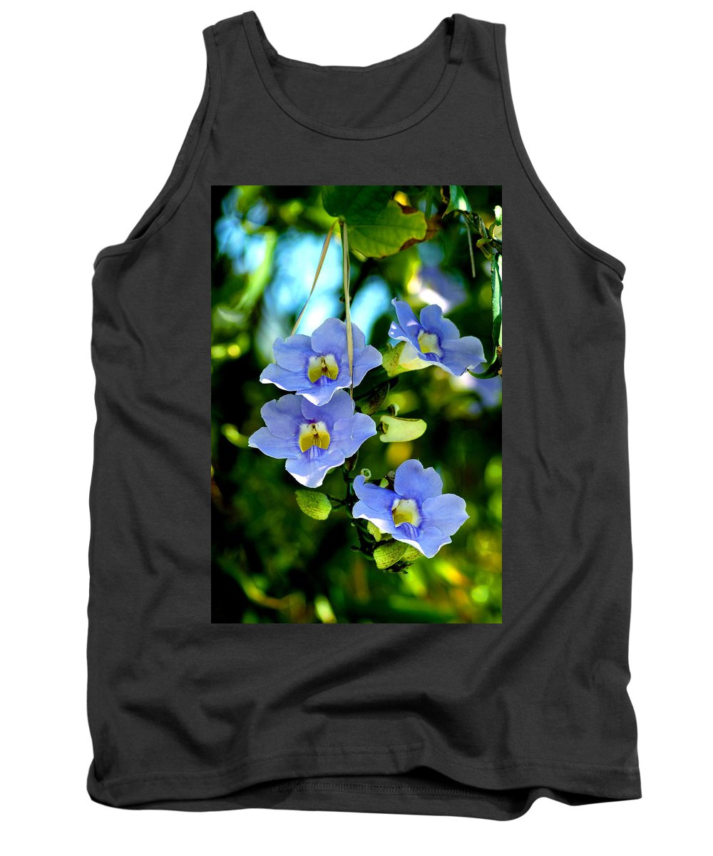 Flower Tank Top featuring the photograph Pretty In Blue by Susanne Van Hulst