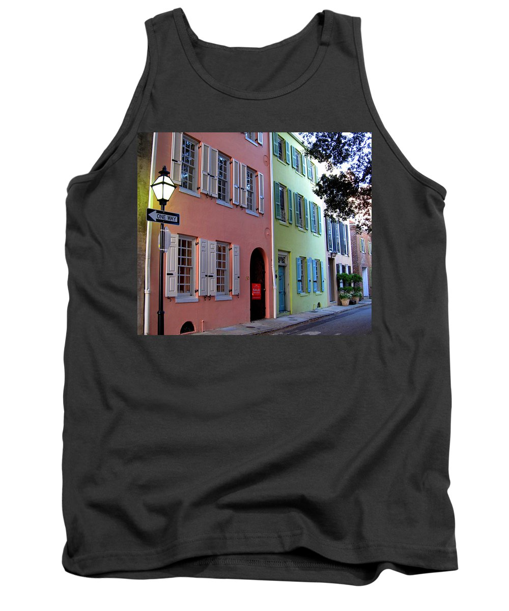 Photography Tank Top featuring the photograph Pretty Lane In Charleston by Susanne Van Hulst