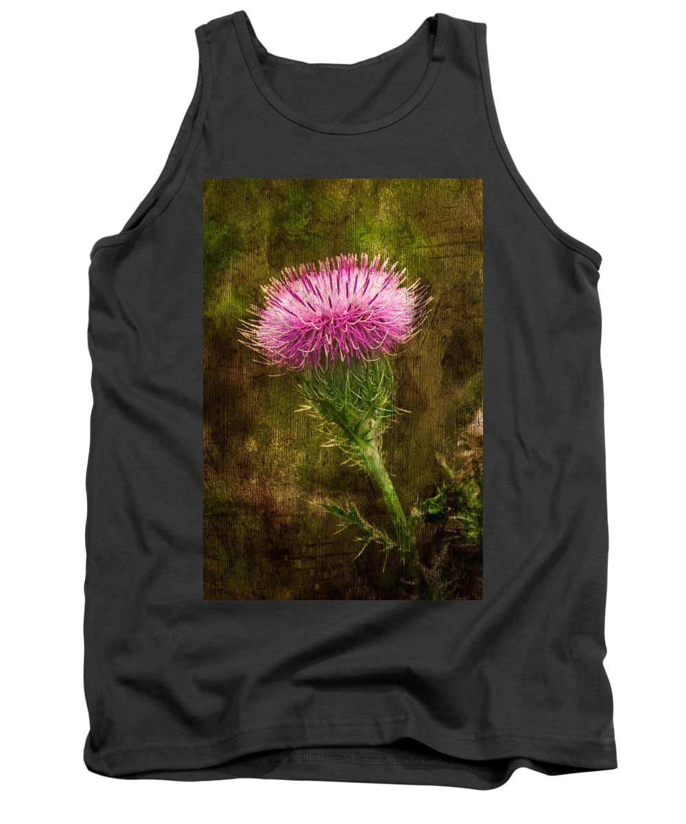 Thistle Tank Top featuring the photograph Prickly Thistle by Rich Leighton