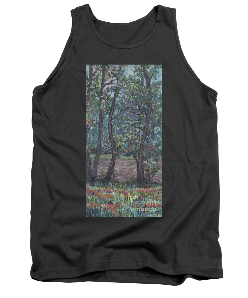 Landscape Tank Top featuring the painting Provence Flowers by Nadine Rippelmeyer