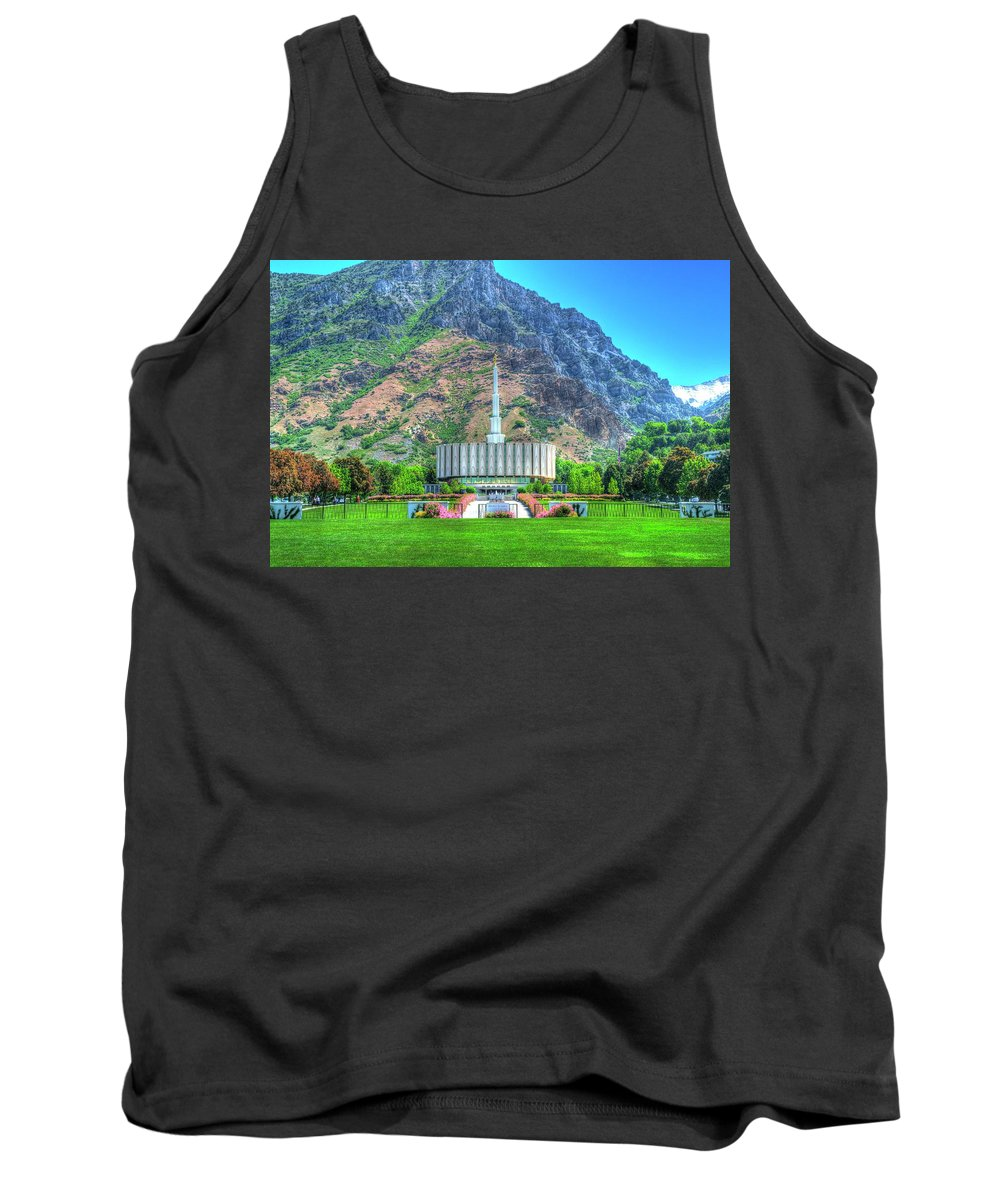Photography Tank Top featuring the photograph Provo Utah Temple by Randy Dyer