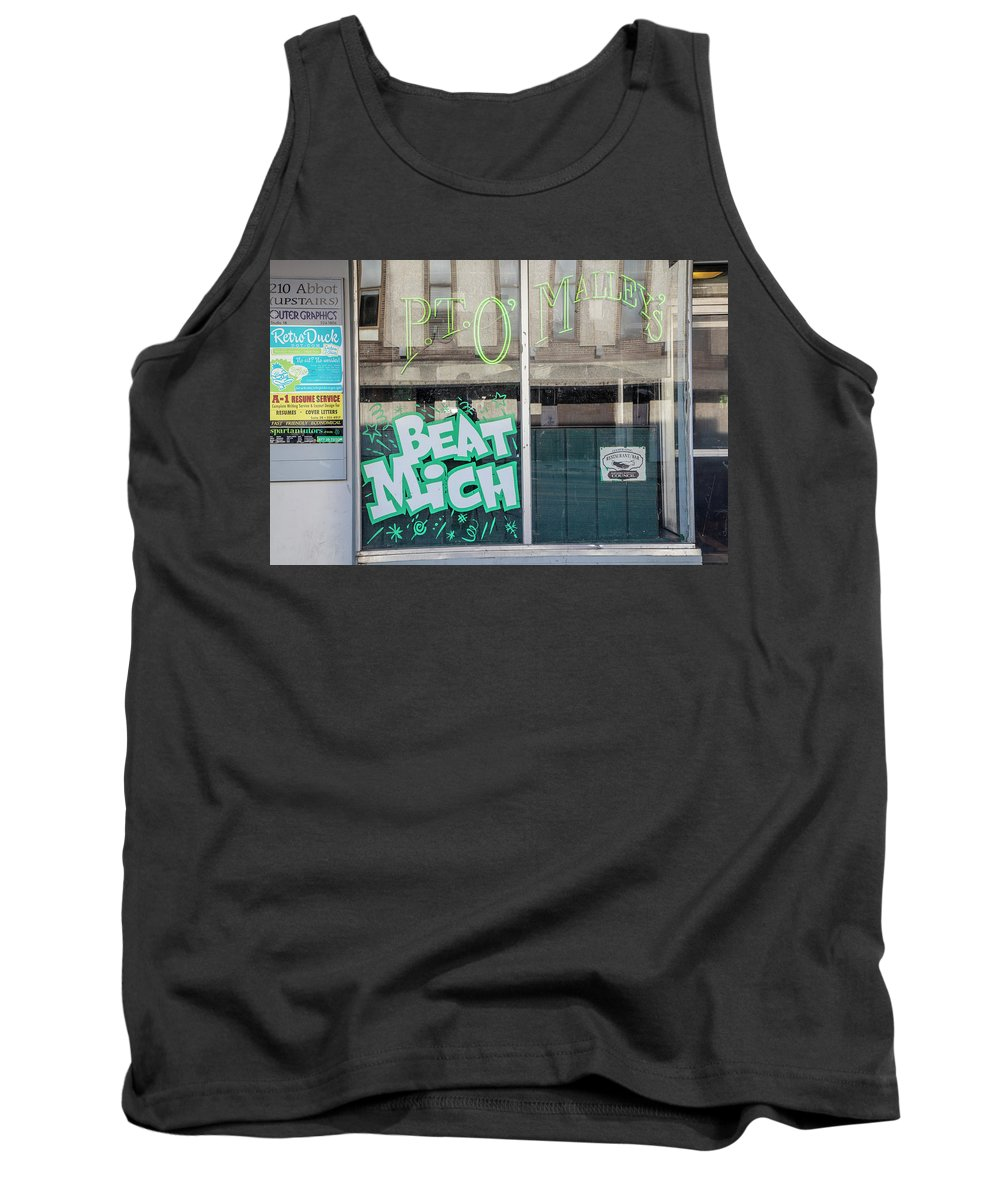 East Lansing Tank Top featuring the photograph Pt O'maleys Beat Mich by John McGraw