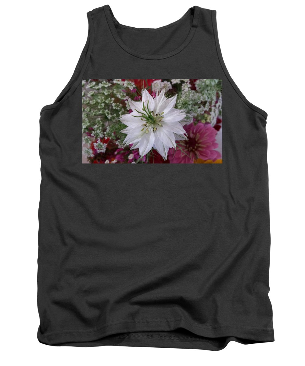 Pure White Tank Top featuring the photograph Pure White by Ann Hamlin