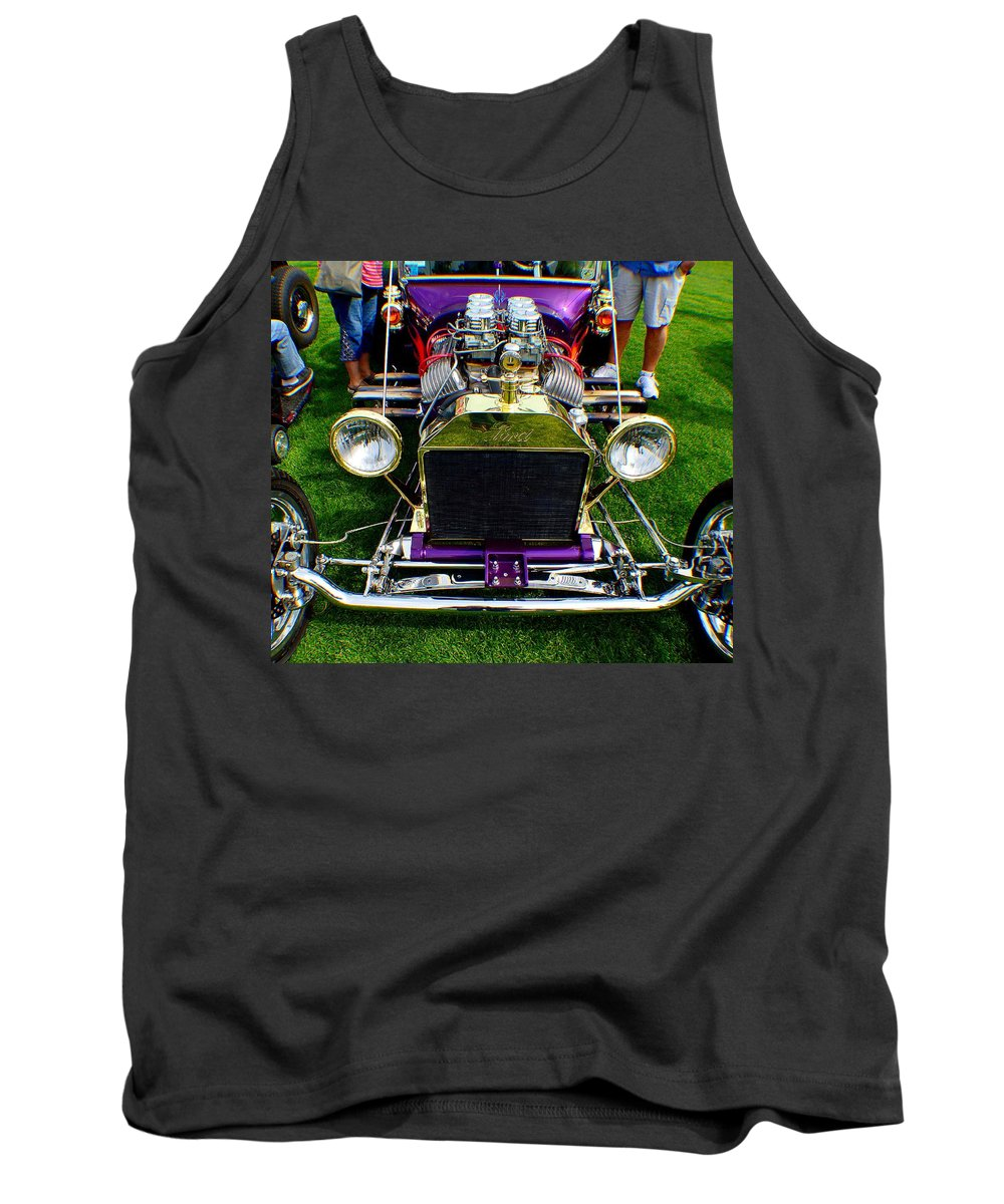 Hot Rod Tank Top featuring the photograph Purple 2 by Barbara Angle
