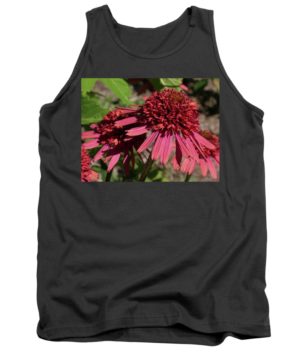 Flower Tank Top featuring the photograph Purple Coneflower by Kathy Benham