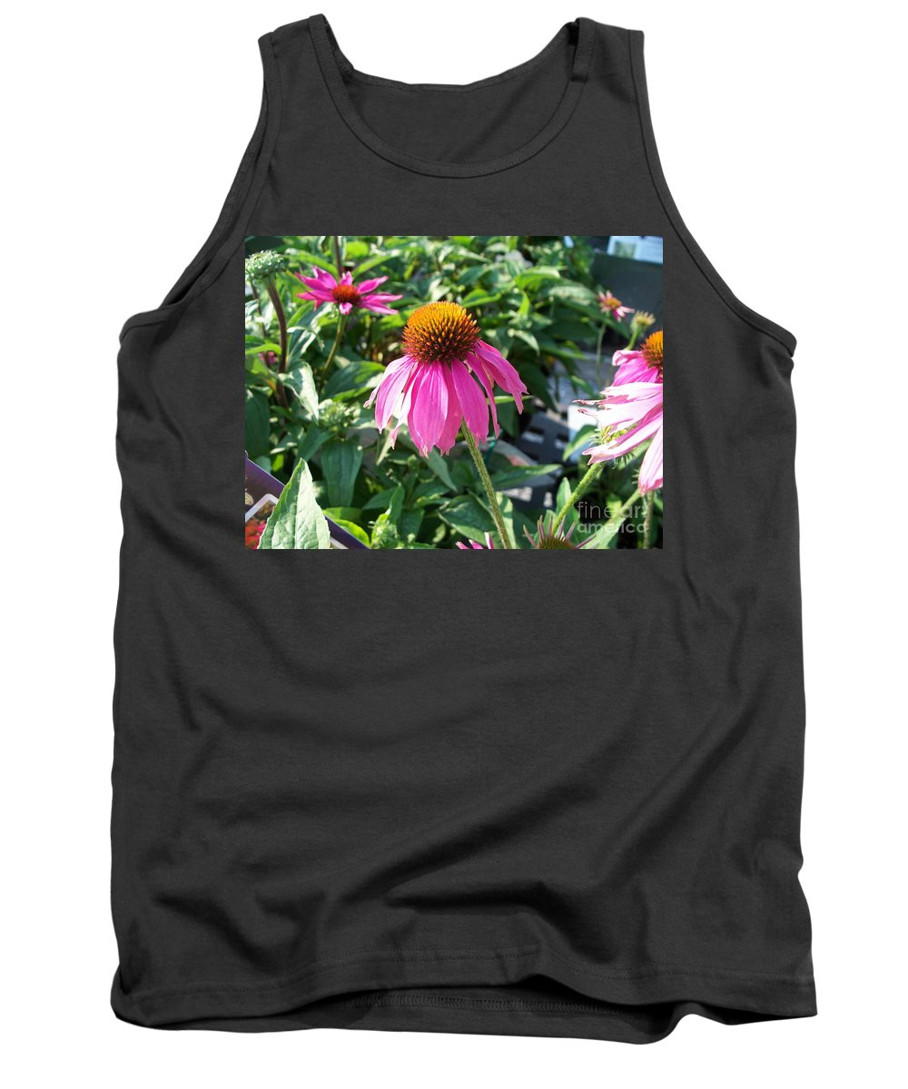 Floral Tank Top featuring the photograph Purple Flower by Eric Schiabor