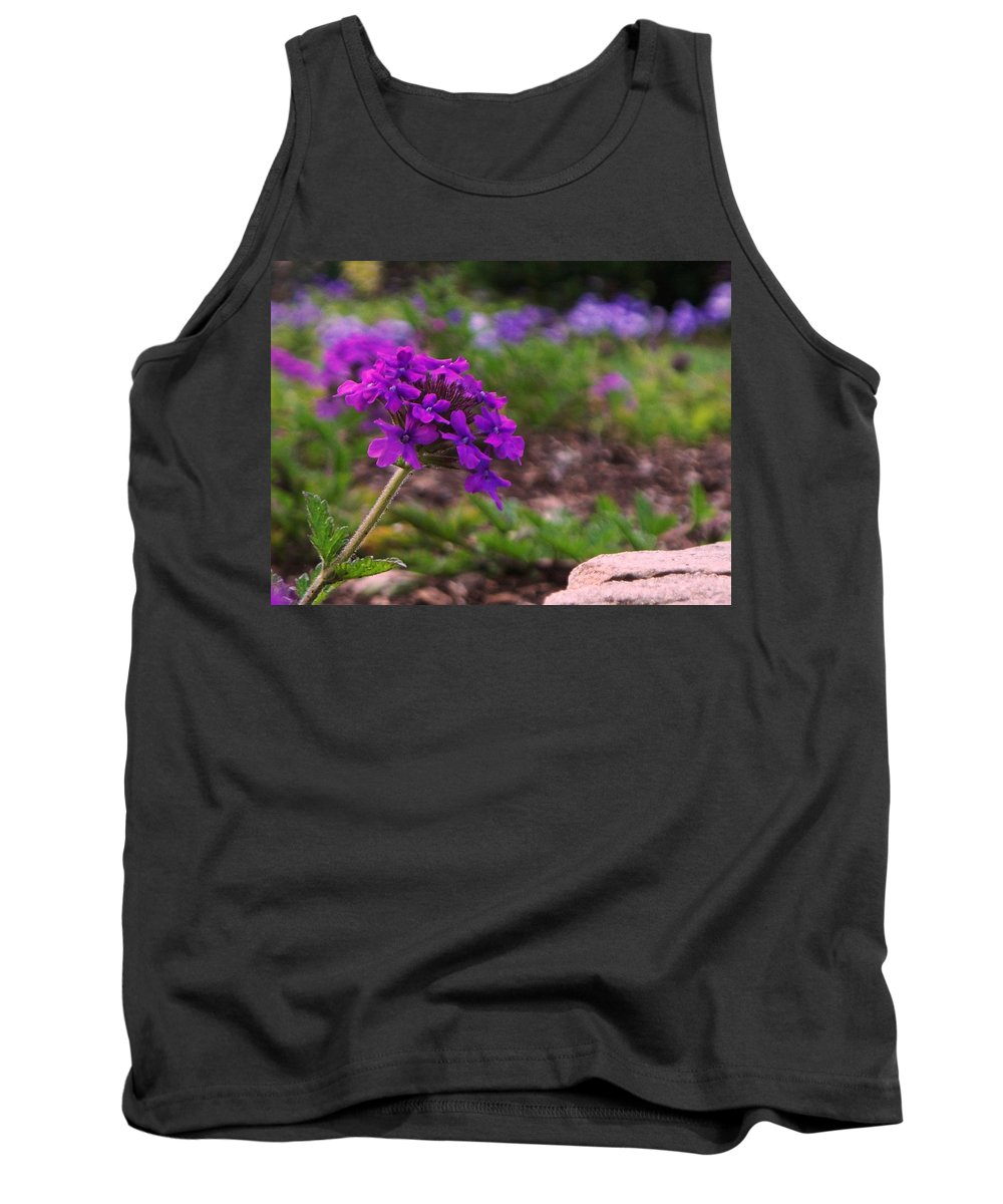 Purple Tank Top featuring the painting Purple Flower by Eric Schiabor