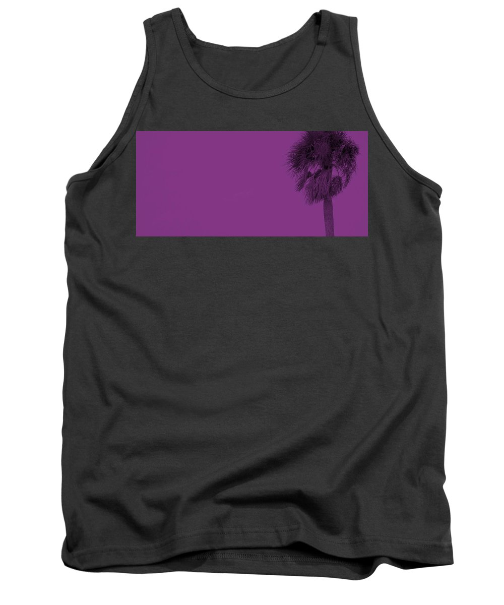 Florida Tank Top featuring the photograph Purple Palm by Ed Smith