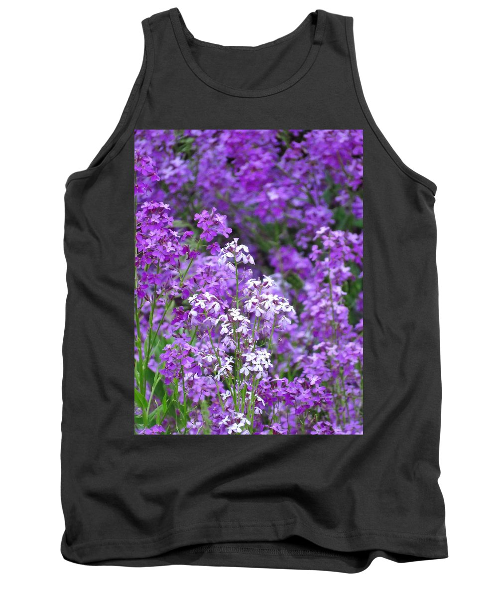 Dame's Rocket Tank Top featuring the photograph Purple Profusion by Lori Frisch