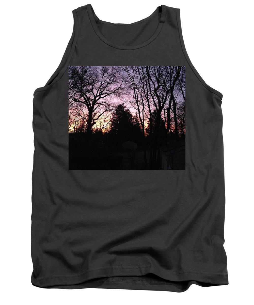 Landscape Tank Top featuring the photograph Purple Sunrise by Lauren Braybon