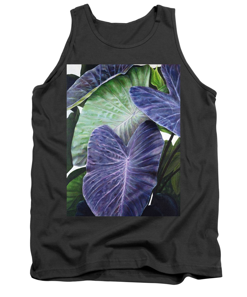 Acrylic Tank Top featuring the painting Purple Taro by Sandra Blazel - Printscapes