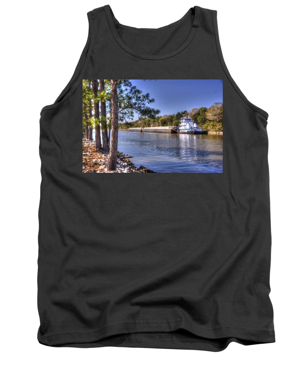 Tug Boat's Tank Top featuring the photograph Push Baby Push by Paul Lindner