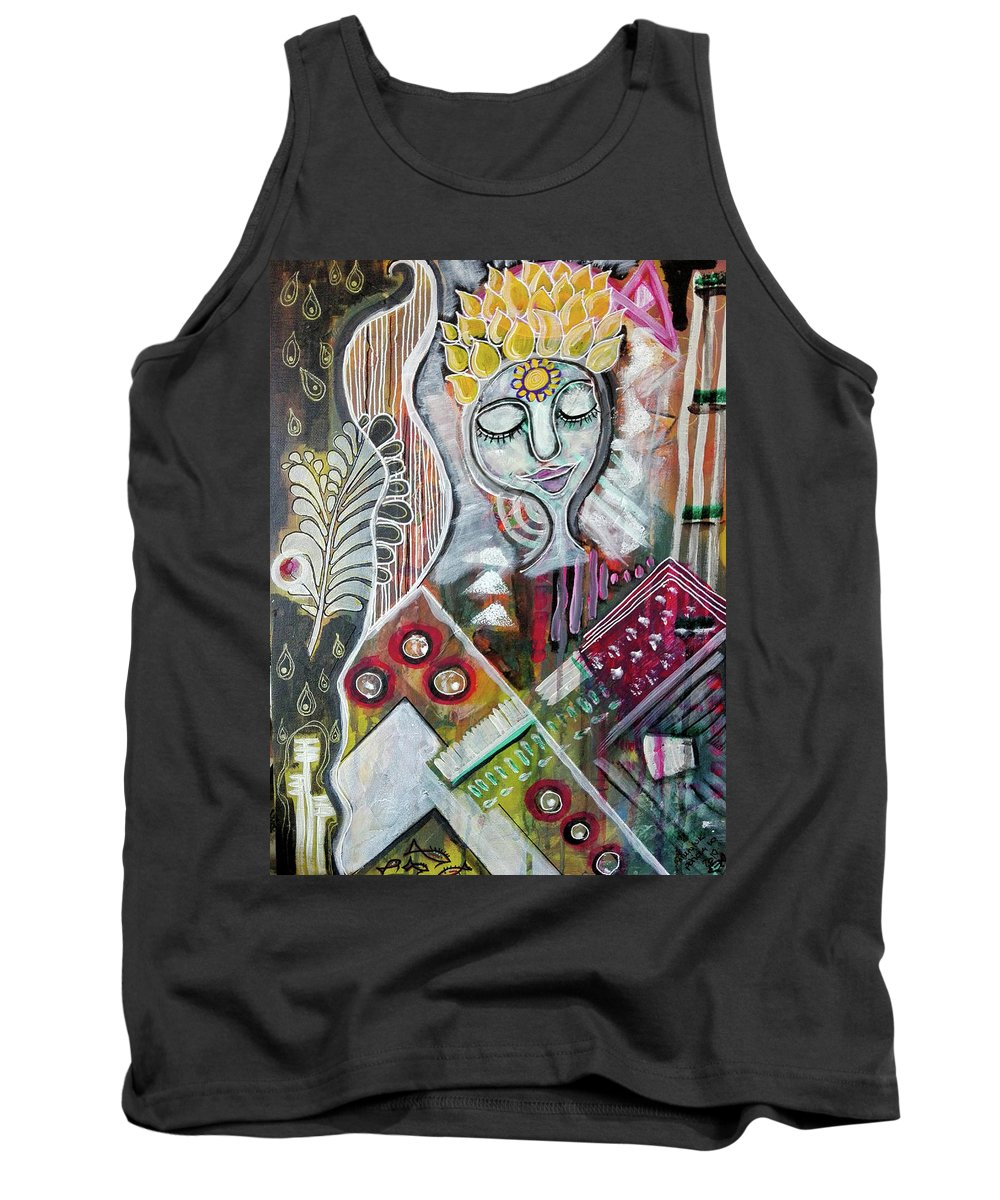 Bliss Tank Top featuring the mixed media Quiet Bliss by Mimulux patricia No